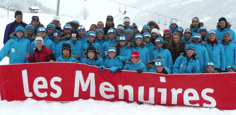 La section ski de fond du Club des Sports Les Menuires